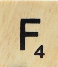 INDIVIDUAL WOOD SCRABBLE TILES! 8 FOR $2, THEN 25 CENTS PER TILE. LETTER F