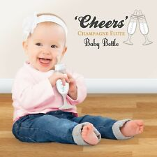 Baby bottle fun champagne flute cheers party toast