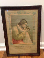 Framed First Holy Communion Remembrance Certificate 1918 Sheboygan WI in German