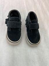 Vans Chukka Suede Moccasin Toddler Sneaker Size 5 Black