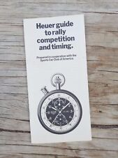 Heuer Dashboard Timers catalogue booklet Autavia Master time Monte Carlo rally