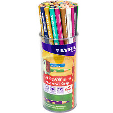 Pote De 48 Lyra Groove Slim Para Colorear Dibujo Lápices Oficina de la escuela niños Artistas