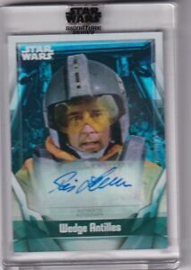 2021 TOPPS STAR WARS SIGNATURES SERIES AUTO AUTO DENNIS LAWSON as WEDGE ANTILLES