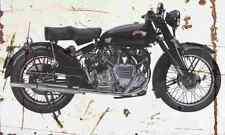 Vincent Rapide Series C 1952 Aged Vintage SIGN A4 Retro