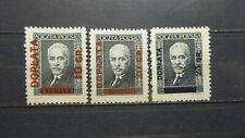 Polen 1934 / Kat. Fischer Nr. D 89 - D91  Komplet / Ungebraucht / mit Falzreste