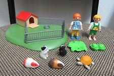Playmobil - Animales Granja - Niños Cobayas Caseta Niño Niña - 3210 - (COMPLETO)