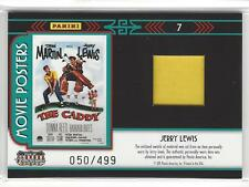 """JERRY LEWIS 2011 Panini Americana Movie Poster Material Relic 50/499 """"The Caddy"""""""