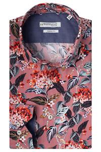 Giordano 207835 Col 50 Dusky Pink Floral Print Shirt