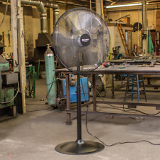 High-Velocity 30 in Industrial Pedestal Fan 3-Speed Adjustable Height Cooling