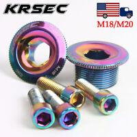 US KRSEC M18/M20 Crank Cap MTB Road Bike Crankset Titanium Aluminum alloy CNC