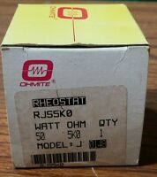 OHMITE RJS5K0 5000 OHM MODEL J RHEOSTAT *NEW IN BOX AND FREE SHIPPING *