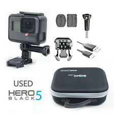 Used GoPro HERO 5 Waterproof Action 4K Ultra HD Camera Touch Screen 12MP + bag