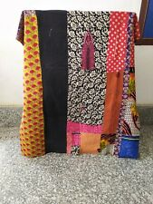 Handmade Cotton Bedding Bedspread Coverlet Indian Reversible Kantha Quilt Throw