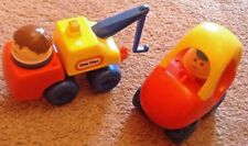 vintage little tikes chunky people cozy coupe car tow truck figures lot of 4 euc