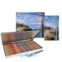 LYRA Graduate Aquarell Watercolour Pencil Tin Sets in 12, 24 or 36 Colours
