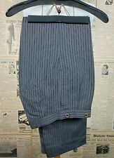 Vintage striped 1930's morning suit trousers size 30