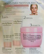 Beauty Femme Para Prevenir Arrugas Crema Limpiadora + Exfoliante + Crema Facial