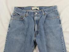 Levi 505 Straight Leg Regular Fit Faded Denim Jeans Tag 36x30 Measure 34x29