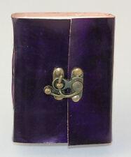 Lederbuch Notizbuch Tagebuch Adressbuch Kladde Rindsleder Büttenpapier lila 016d