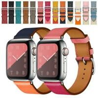 Genuine Leather TWO-TONE Watch Band Strap for Apple Watch Series 5/4/3/2/1 42-44