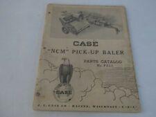 Case Ncm Pick Up Baler Parts Catalog