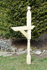 Ball Top Turned Treated Wood Mailbox Post
