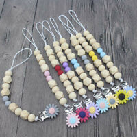 NEW Chew Toy DIY Silicone  Soother Pacifier Chain Baby Teething Sunflower Clips