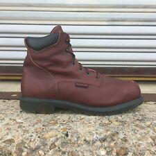 Men's Brown Leather RED WING Boots Steel Toe EH Safety Shoe 15