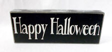 Kohl's Happy Halloween Spiderwebs Sign Halloween Decoration Black White 12' NWT