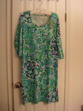 NWT LILLY PULITZER KENZIE agate green lazy river dress size M