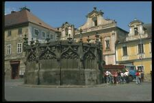 088035 Kutna Hora 15th Century Gothic Fountain A4 Photo Print