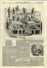 1843  Steam Printing Machines Tamworth Castle Engraving
