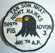 NIGHT HAWKS - USAF - 405th AIR POLICE PATCH - Saigon Base - Vietnam War - 4864