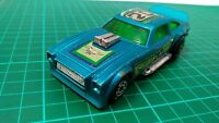 MATCHBOX SPEED KINGS K-60 FORD MUSTANG MKII GREEN WINDOWS BLUE DIECAST CAR