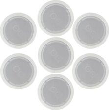"""7 X Blanco estéreo los altavoces de techo 100 W 6.5"""" Altavoz Easy Fit Dual Tweeters"""