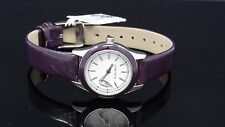 Nine West NW/1219WTPR Women's Purple Leather Strap White Dial Watch