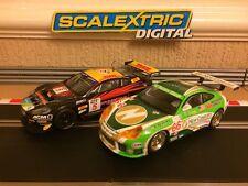 Scalextric Digital ASTON MARTIN DBR9 DHL No5 & PORSCHE 911 GT3R