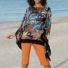 Monroe and Main Feather Scarf Top Blouse NEW One Size fits Most