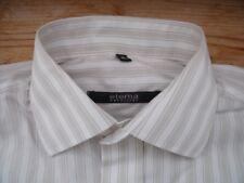 TA2886 Eterna EXCELLENT Businesshemd Kurzarm 39 Weiß Hellgrau gestreift Sehr gut