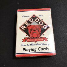 VTG RED DOG Premium Beer Playing Cards poker Bulldog Brewery Advertising NEW