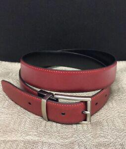 kenneth cole leather belt Reversible Color Black/ Red