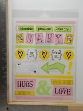 SRM STICKERS BABY GIRL ADORABLE PRECIOUS LOVABLE CLASSIC STICKERS A11403