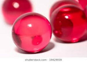 Translucent Red 0.14Oz/3.9g  Bath Oil Beads Rose Fragrance Bath Pearls
