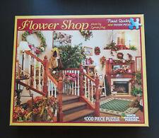 White Mountain Puzzles 1000 Piece Puzzle Flower Shop #8585 Extra Large Pieces