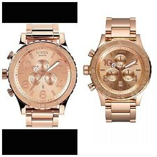NEW NIXON 51-30, 42-20 Chrono ROSE GOLD His and Hers Watch Set,5130! A083-897