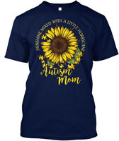 Custom Autism Mom - Sunshine Mixed With A Little Hanes Tagless Tee T-Shirt