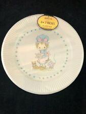 """Vintage Hallmark Betsey Clark 7"""" Paper Plates Drinking Tea w Kitty Cat"""