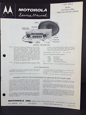 Motorola 1960 Rambler Auto Radio Service Manual Model 04MA