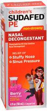 Children's Sudafed PE Nasal Decongestant Liquid Cold Relief Medicine 4 fl. oz