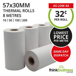 Premium EFTPOS Rolls 57x30mm Thermal Paper for Cash Register Receipts